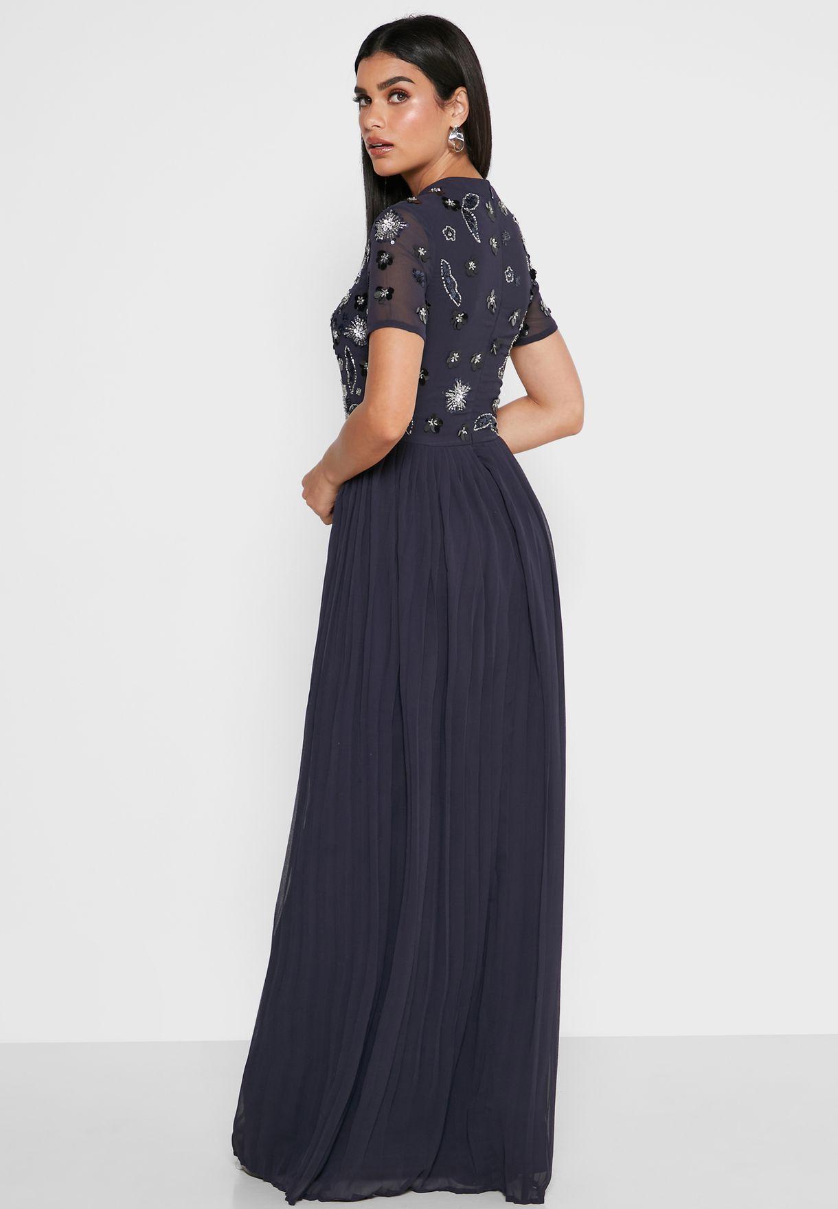 فستان بليسيه مرصع
