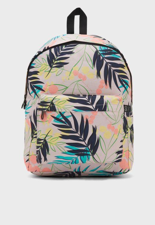 Arya Go Floral Print Backpack