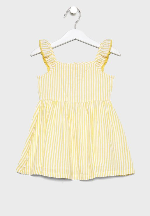 Infant Crinkle Striped Dress