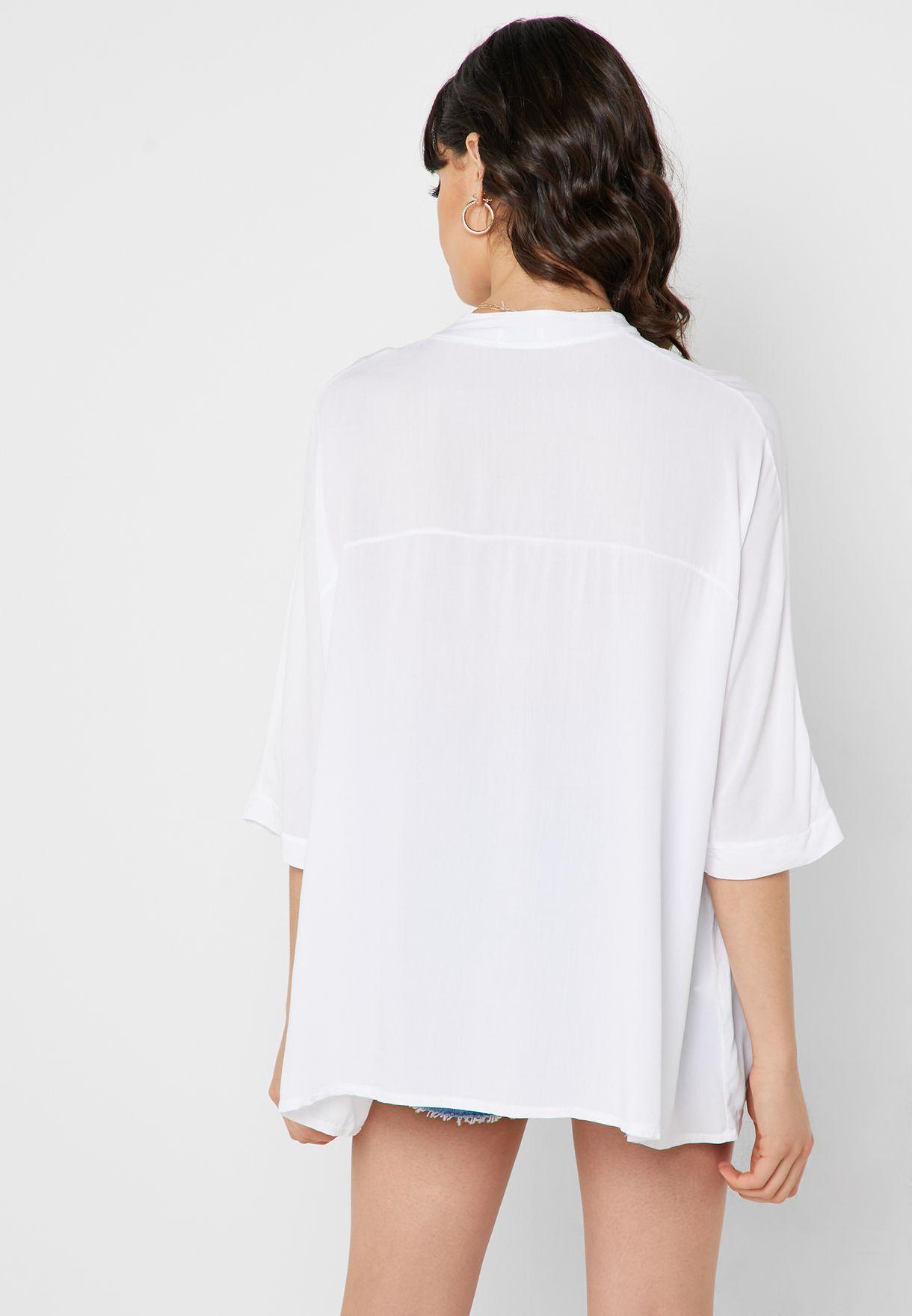 Oversized Placket Shirt