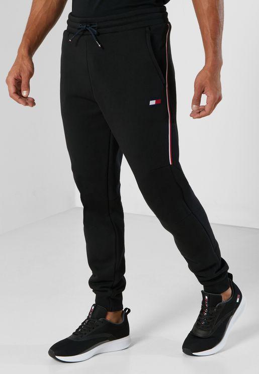 Stripe Cuffed Sweatpants
