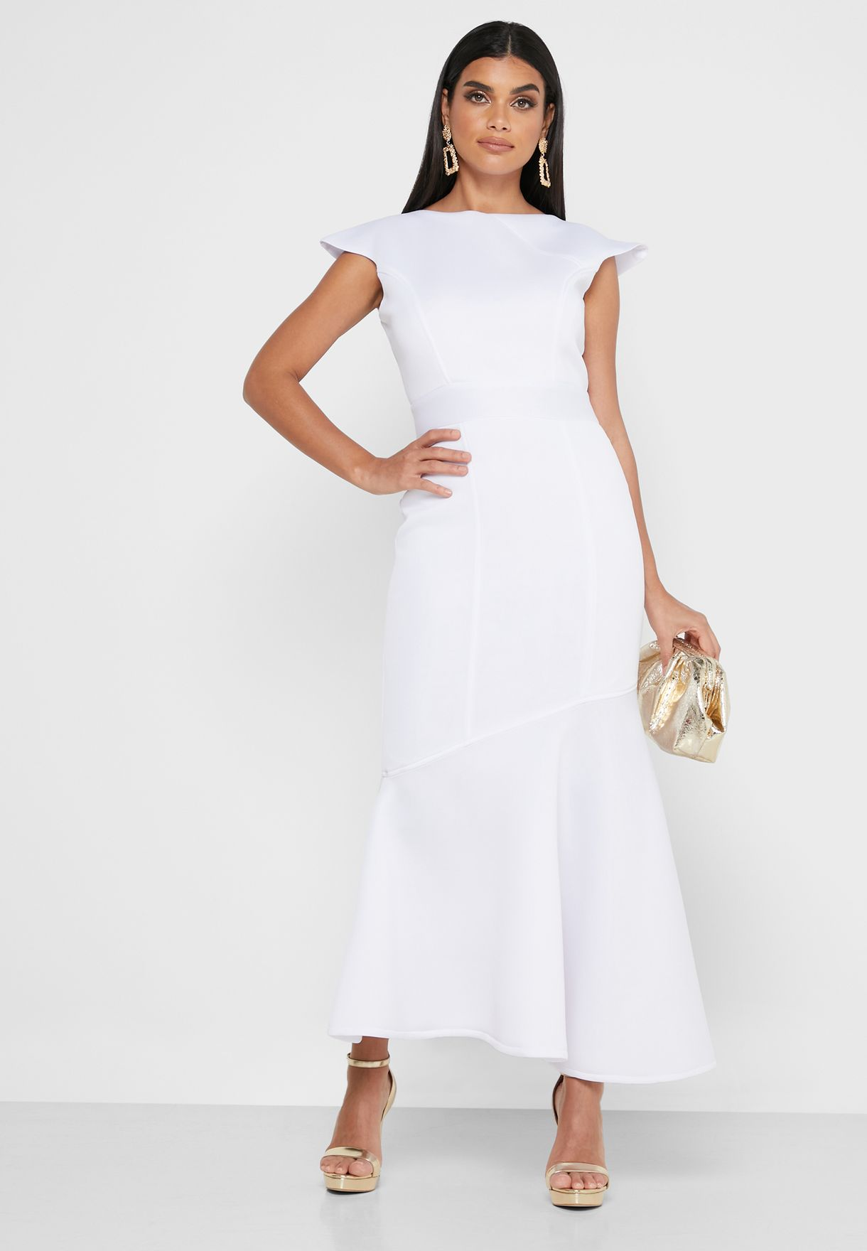 فستان ماكسي نمط ذيل السمكة