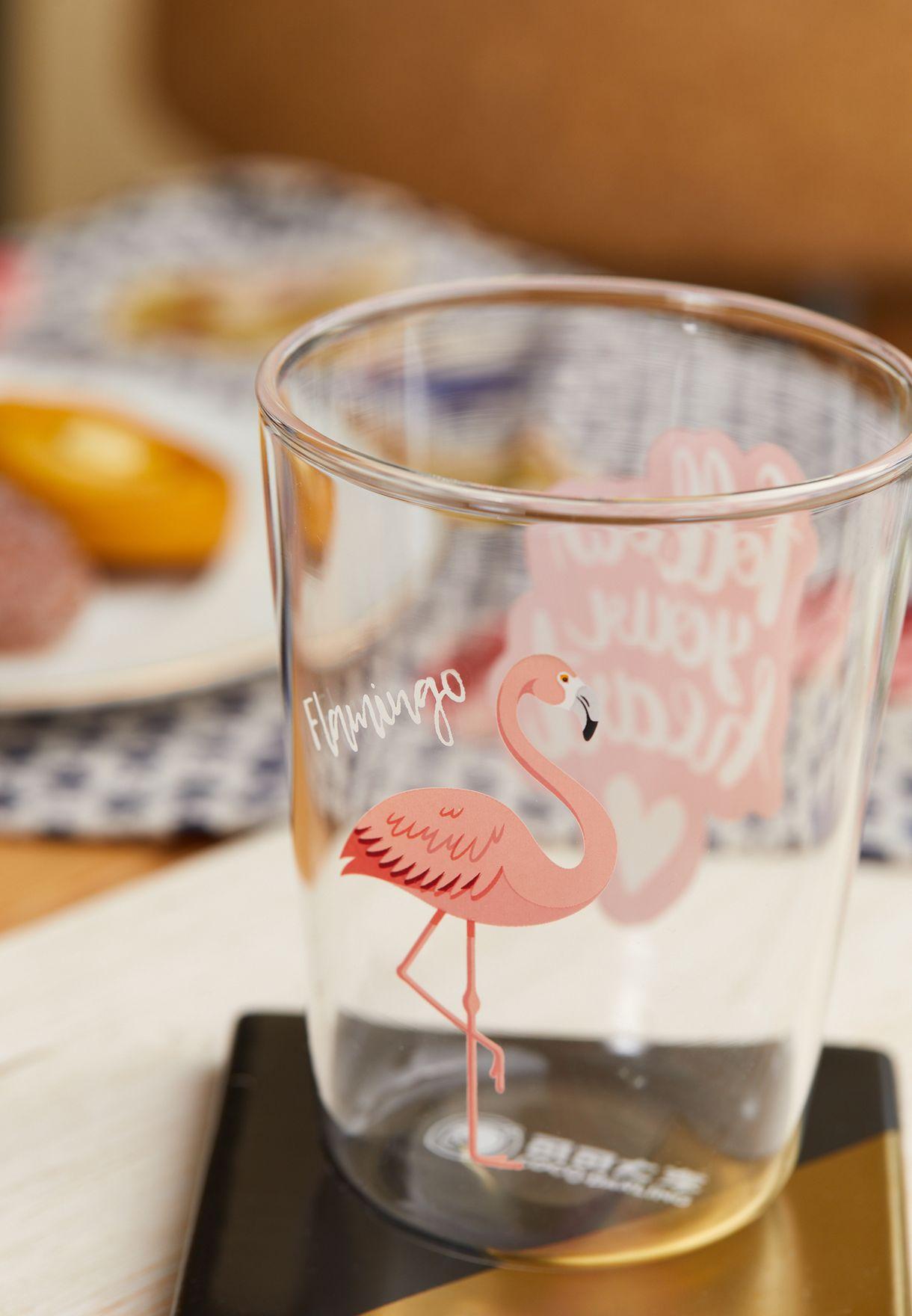 Pink Glitter Flamingo Tumbler