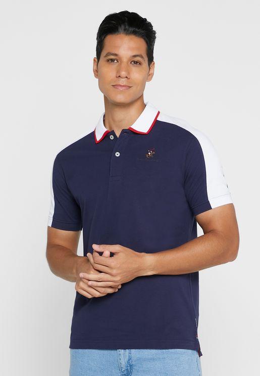 Contrast Collar Polo