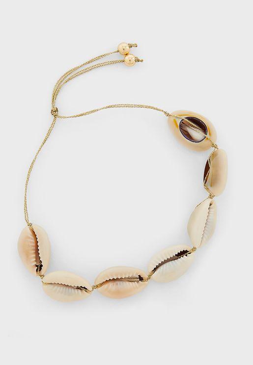 Cowrie Shell Cord Bracelet