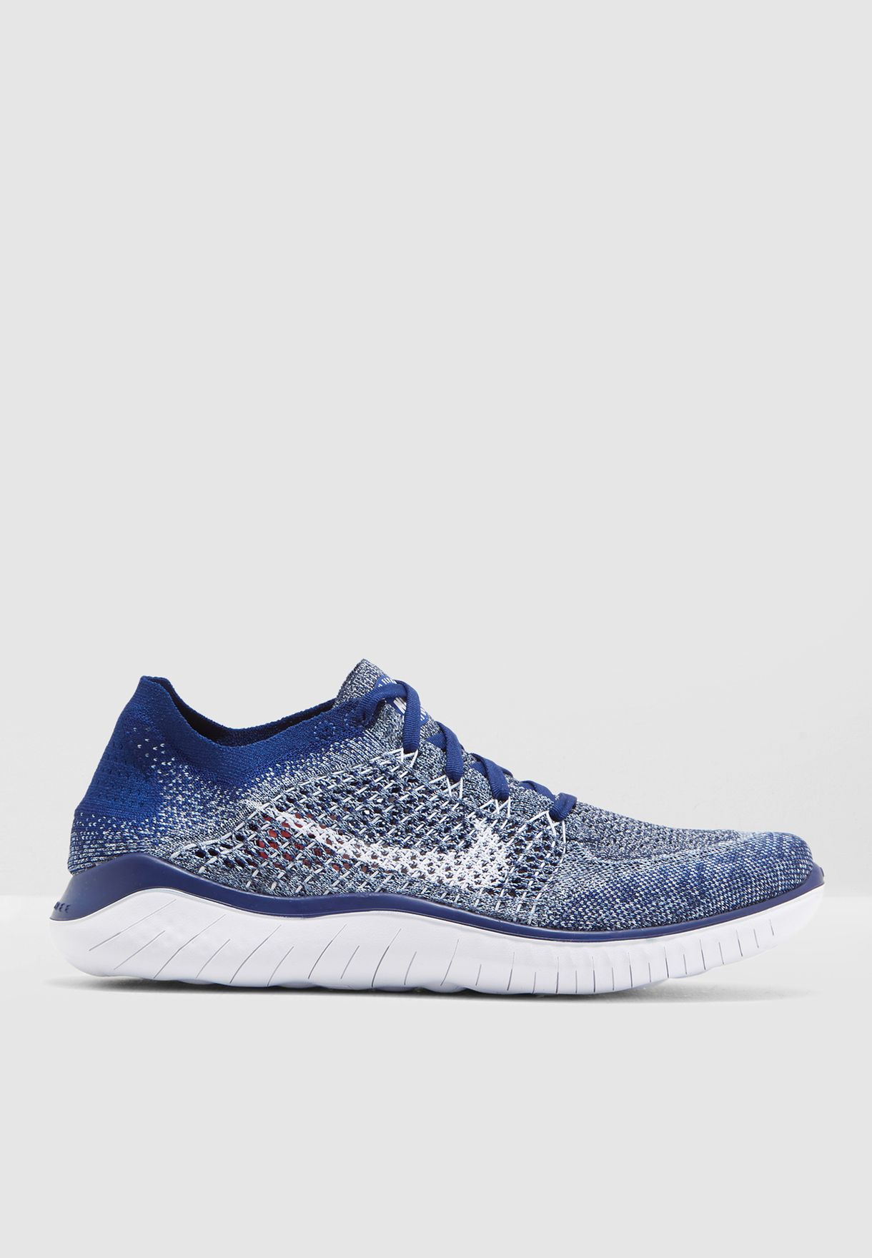 c956e7249027 Shop Nike navy Free RN Flyknit 2018 942838-402 for Men in Kuwait ...