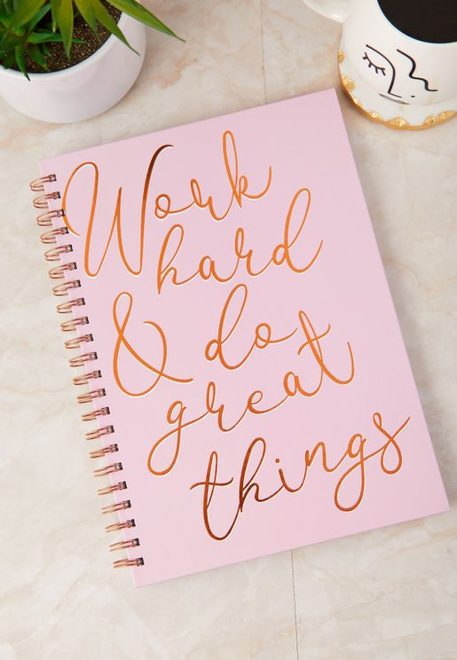 A4 Work Hard & Do Great Things Notebook