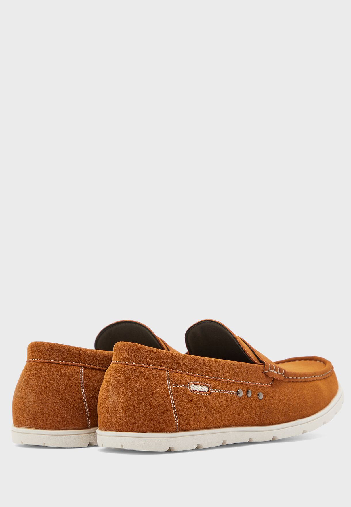 Faux Suede Comfort Insole Casual Slip Ons