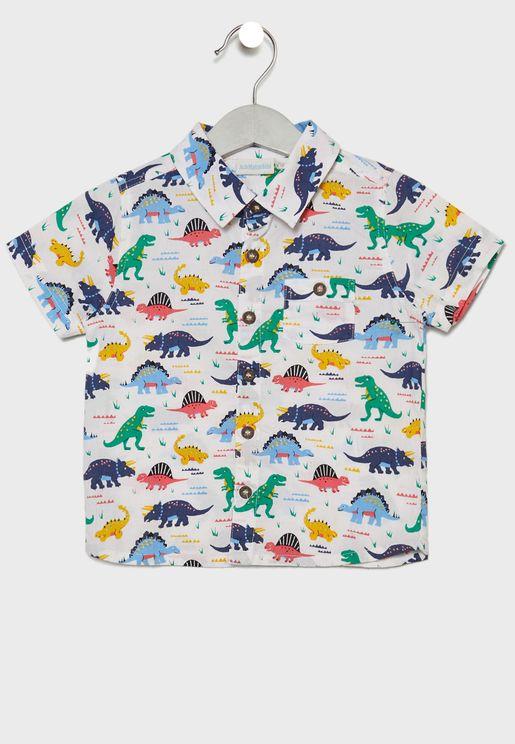 Kids Dino Print Shirt