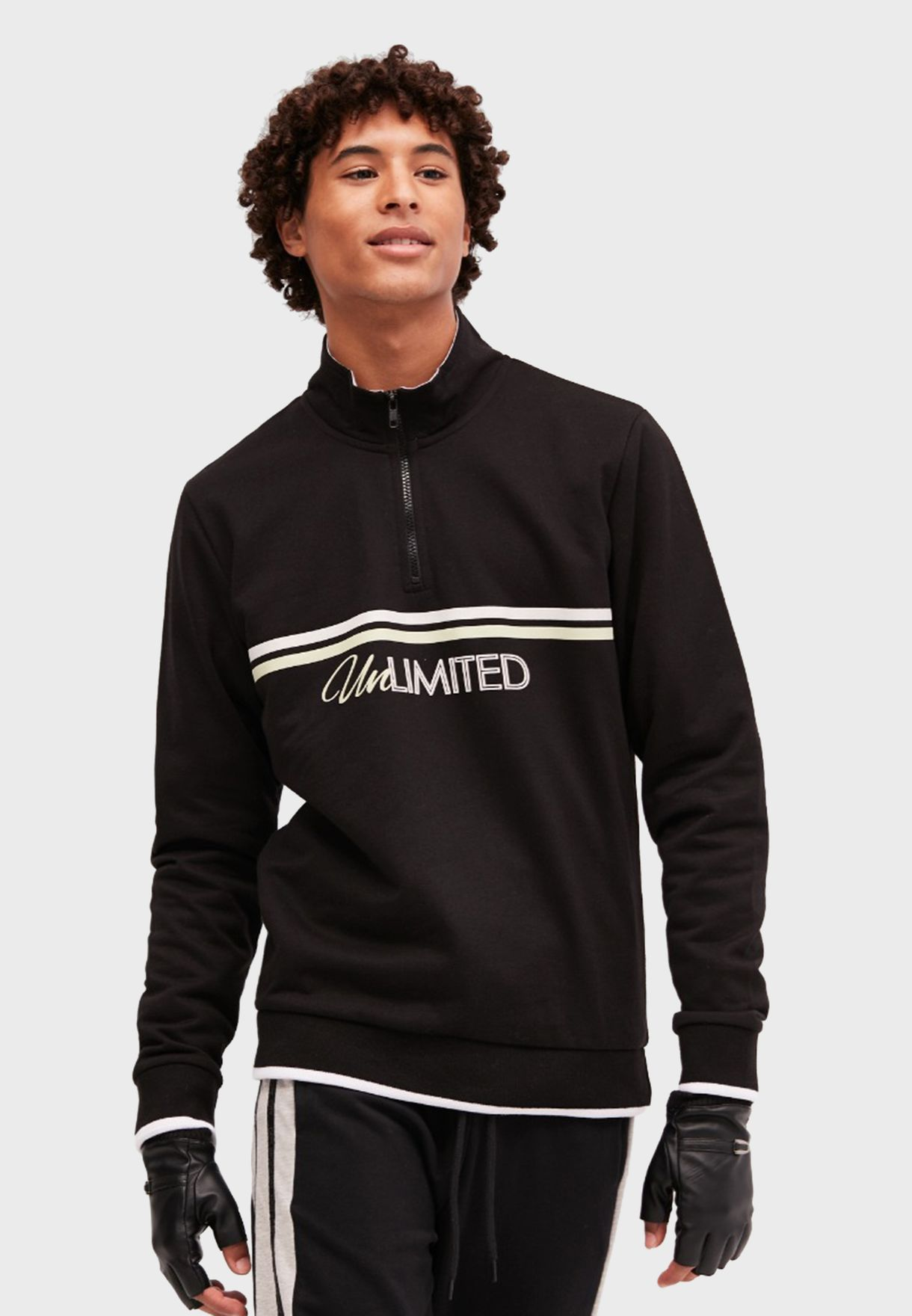 Unlimited Half Zip Sweatshirt