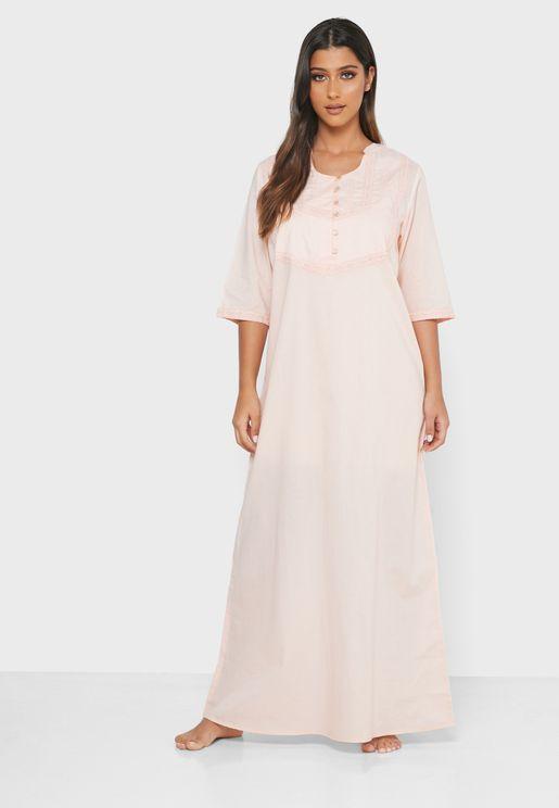 Lace Trim Nightdress