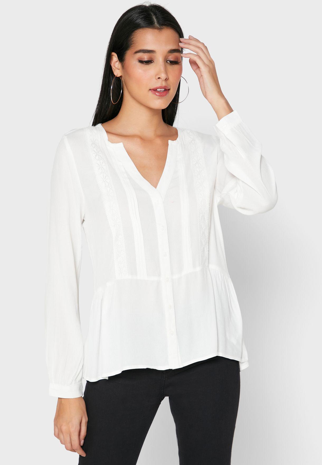 V-Neck Peplum Shirt