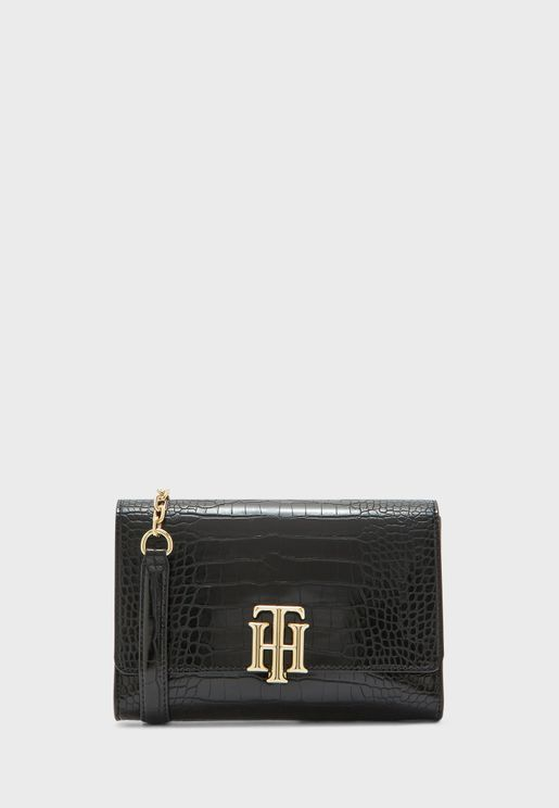 Lock Croco Crossbody