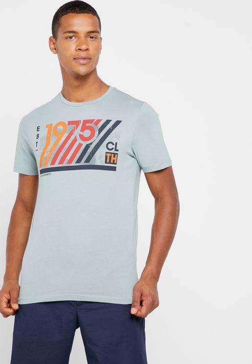 1975 Print Crew Neck T-shirt