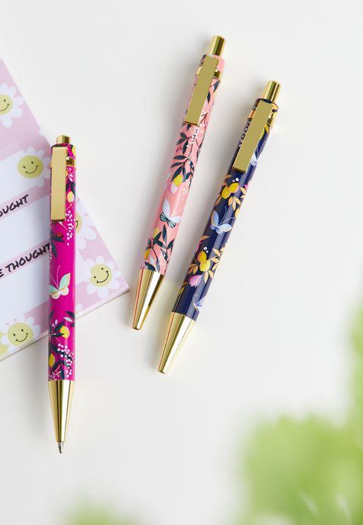 Set Of 3 Ballpoint Pens