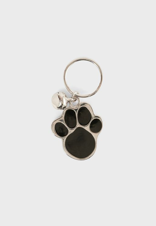 Silver Paw Collar With Address Pendant