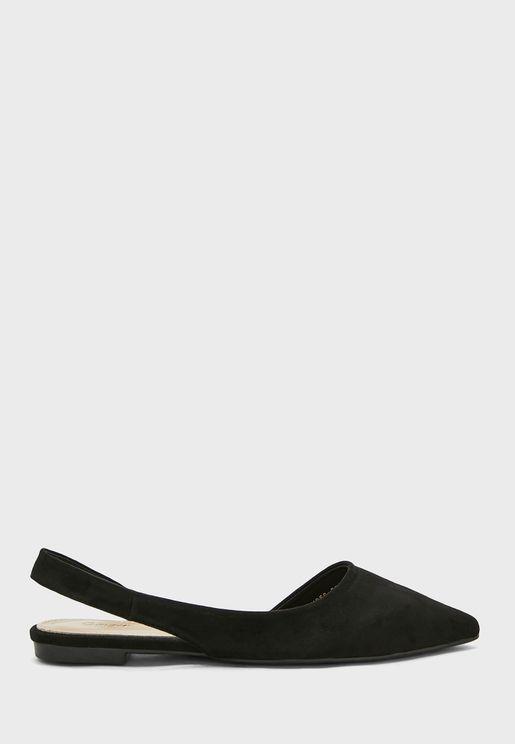 Open Side Slingback Pointed Shoe