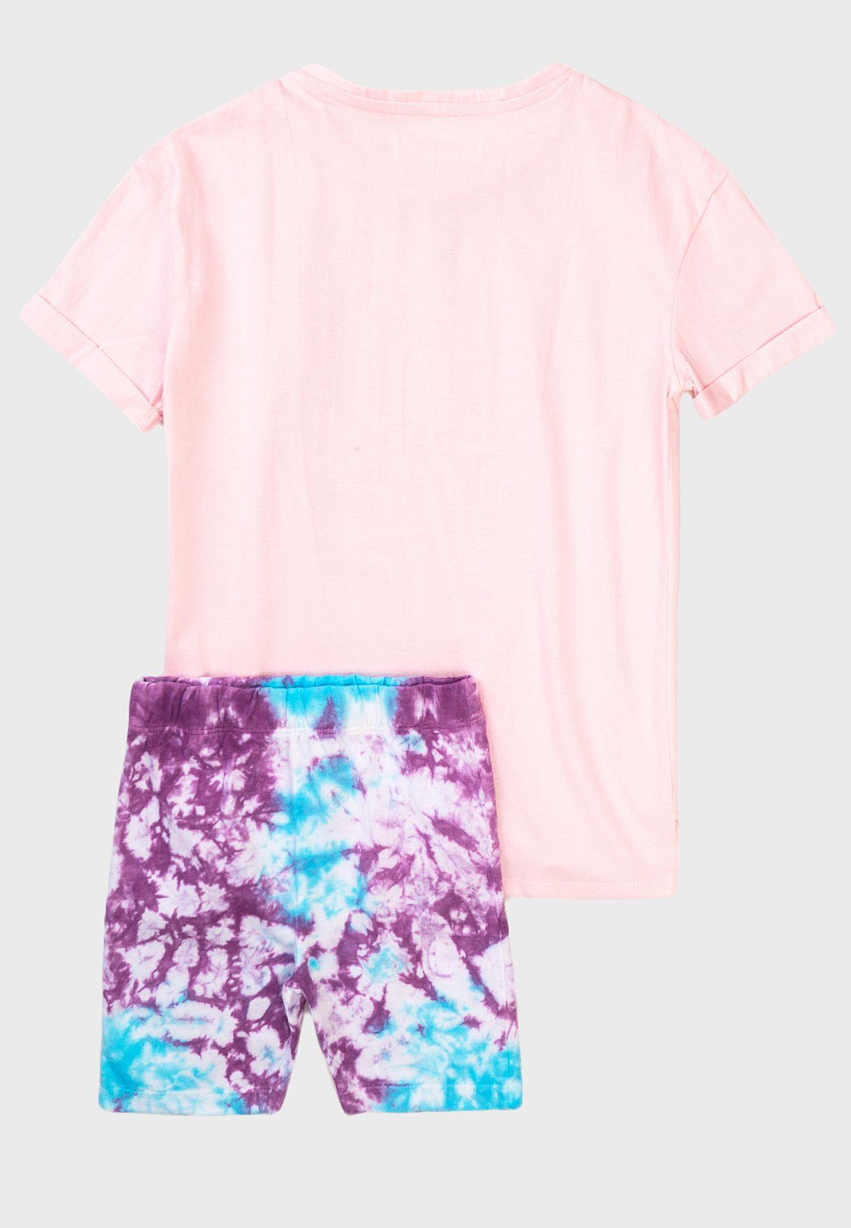 Infant Love Basic Top & Shorts Set