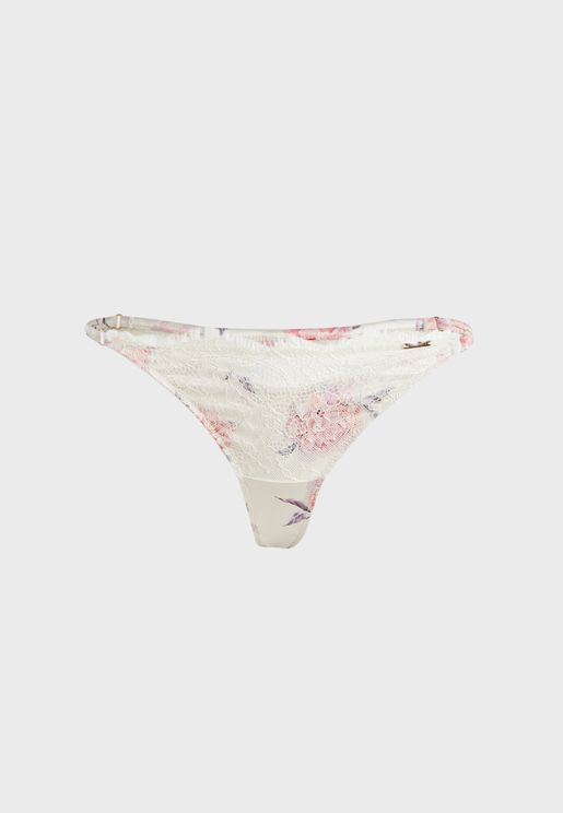 Carrie Lace Detail Thong