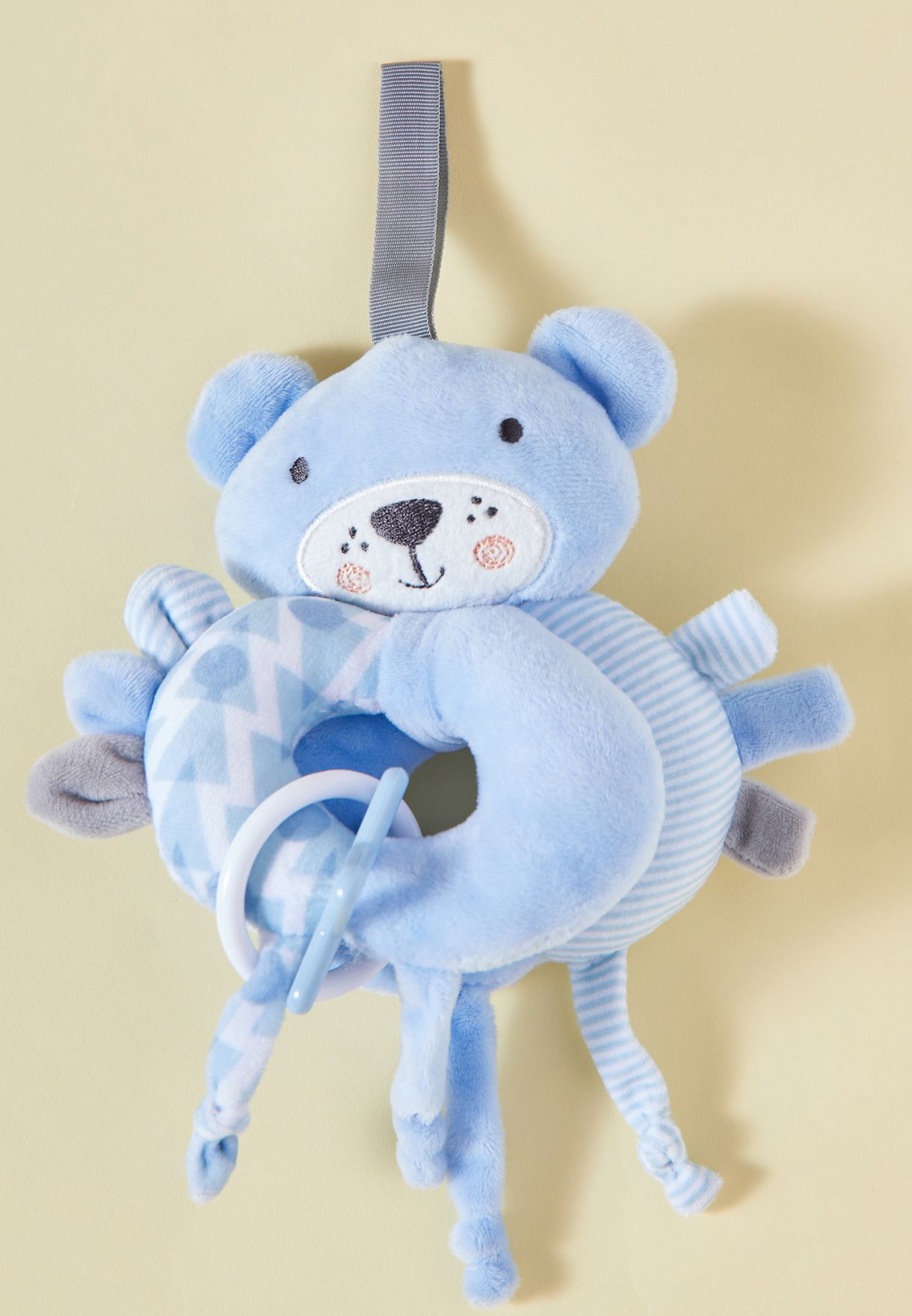 Blanket And Rattle Set - Bear