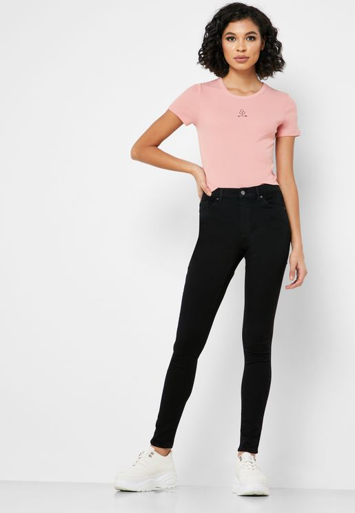 MOTO Leigh Mid Rise Skinny Jeans