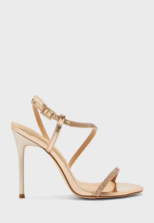 Diamante Pu Sandals