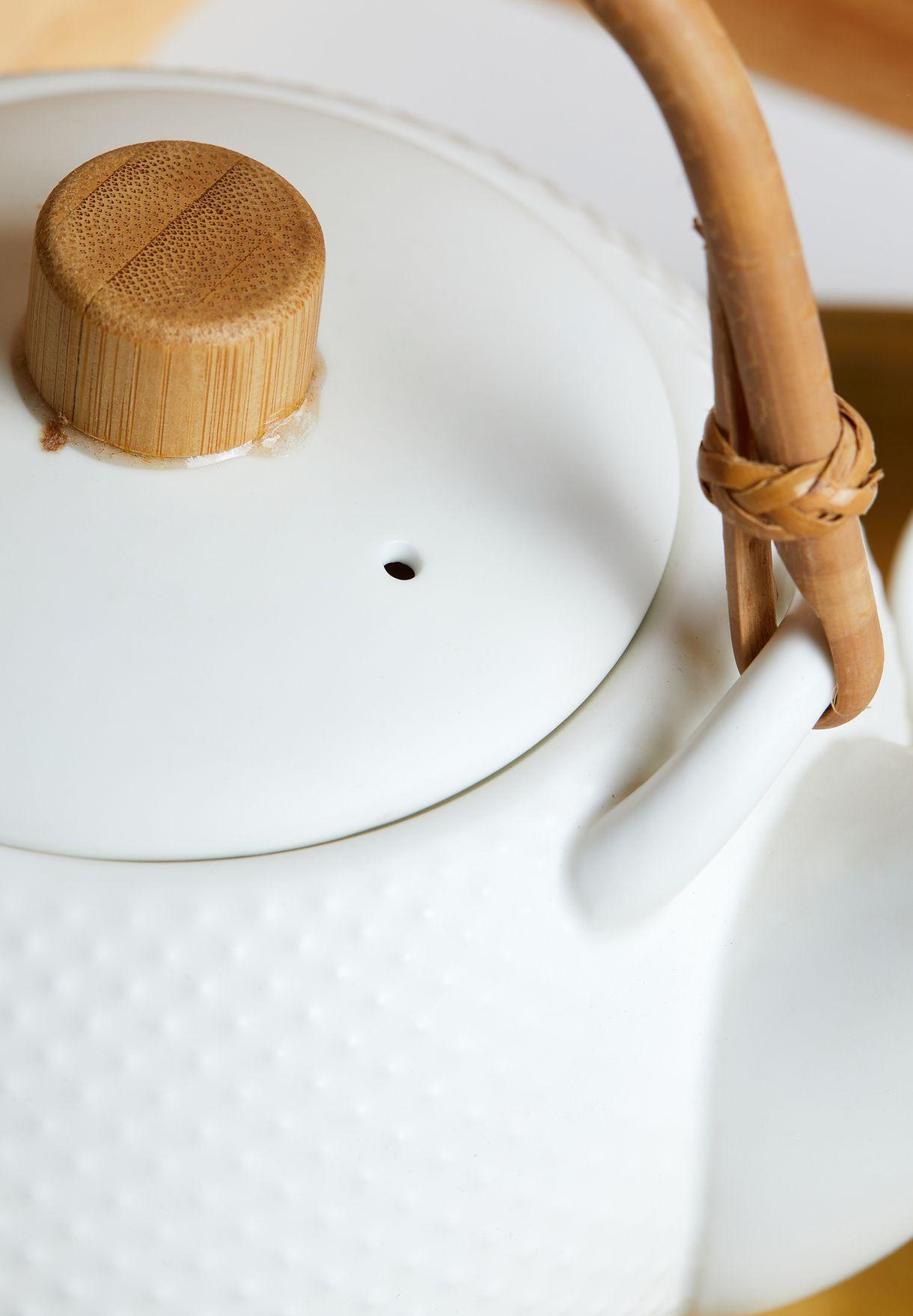 طقم فناجين شاي وابريق 5 قطع
