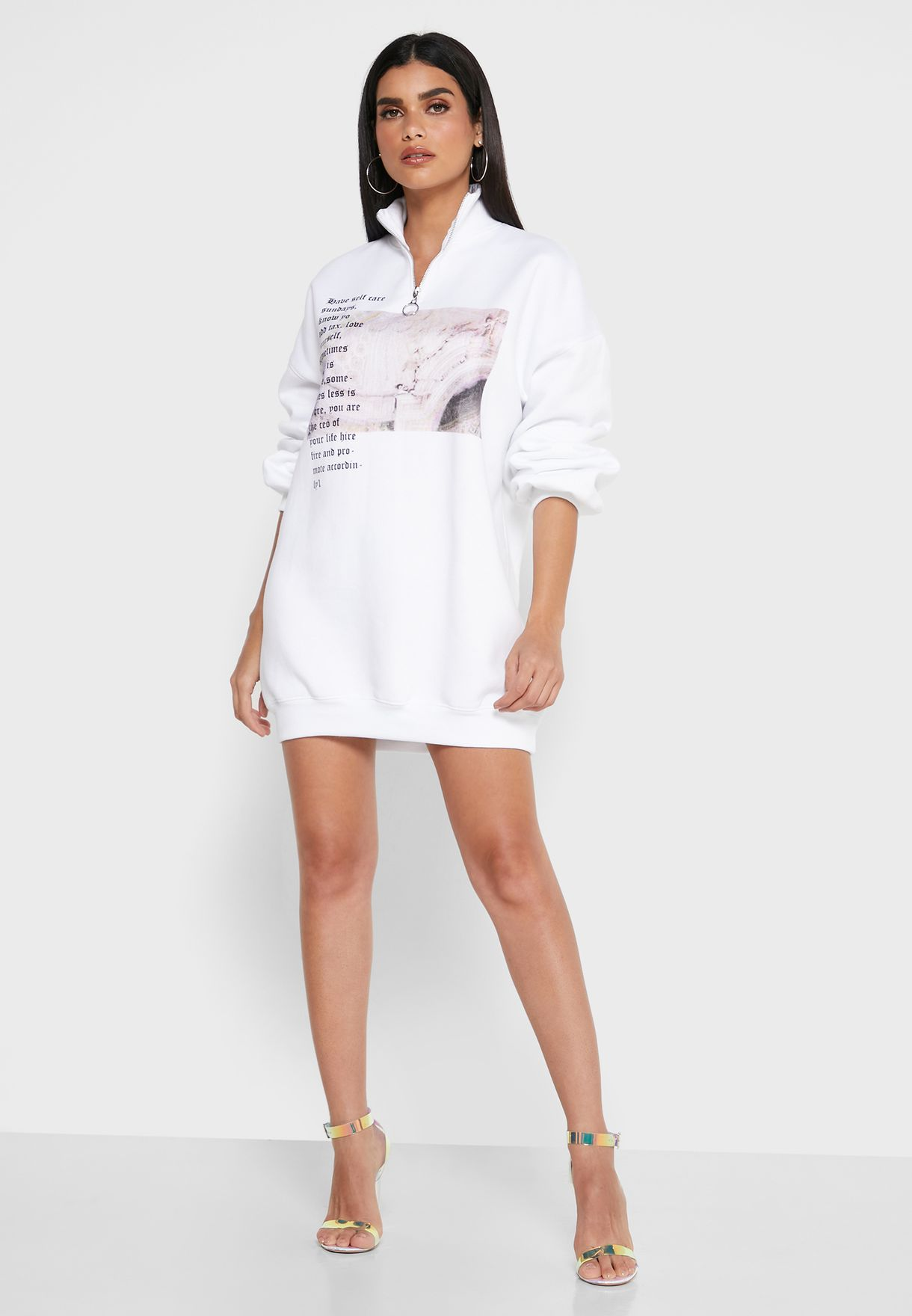 Oversized Graphic Sweat Dress
