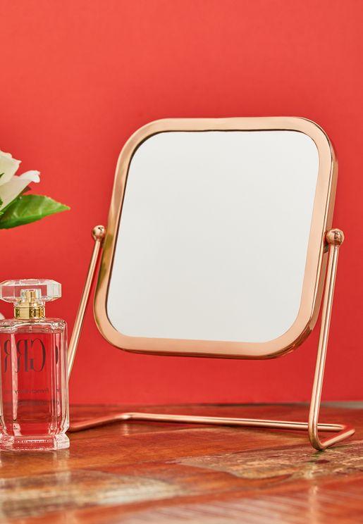 مرآة طاولة علي شكل مربع