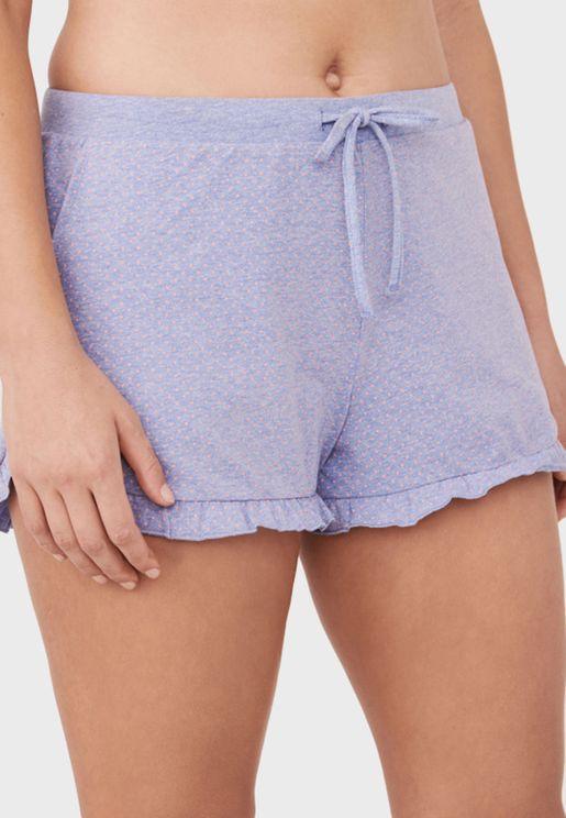 Ruffle Pyjama Shorts
