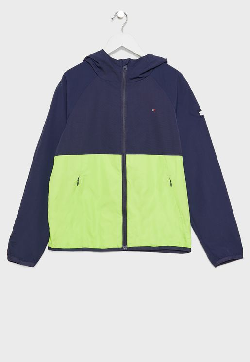 Teen Color Block Windbreaker