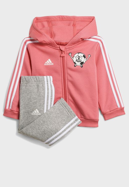 Infant 3 Stripe Fleece Tracksuit