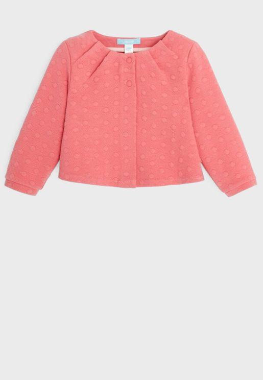 Infant Embossed Polka Dot Sweatshirt