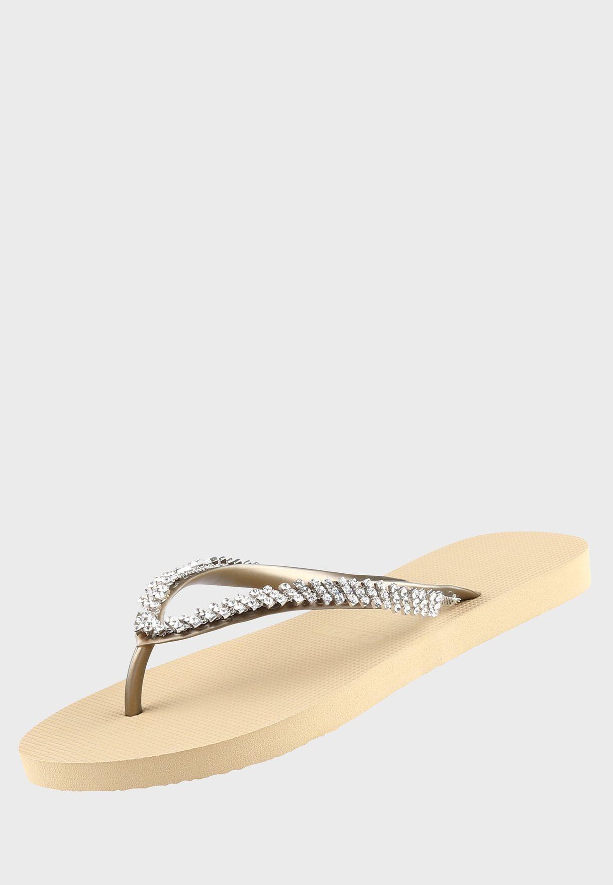 Classic Stone Detail Flip Flop