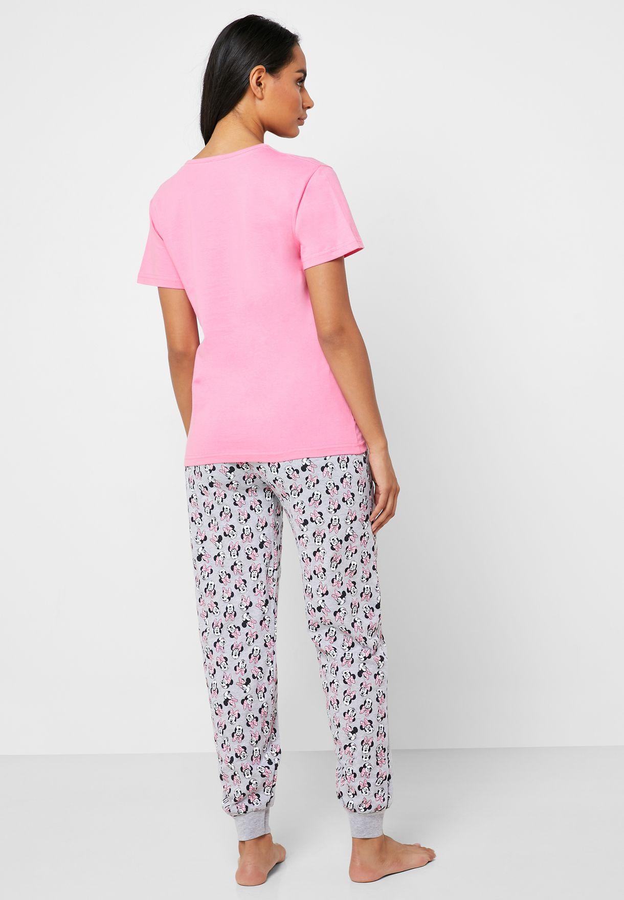 Minnie Printed T-Shirt & Pyjama Set