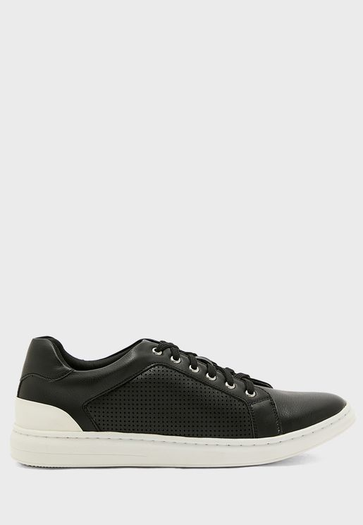 Perforated Casual Lace Ups