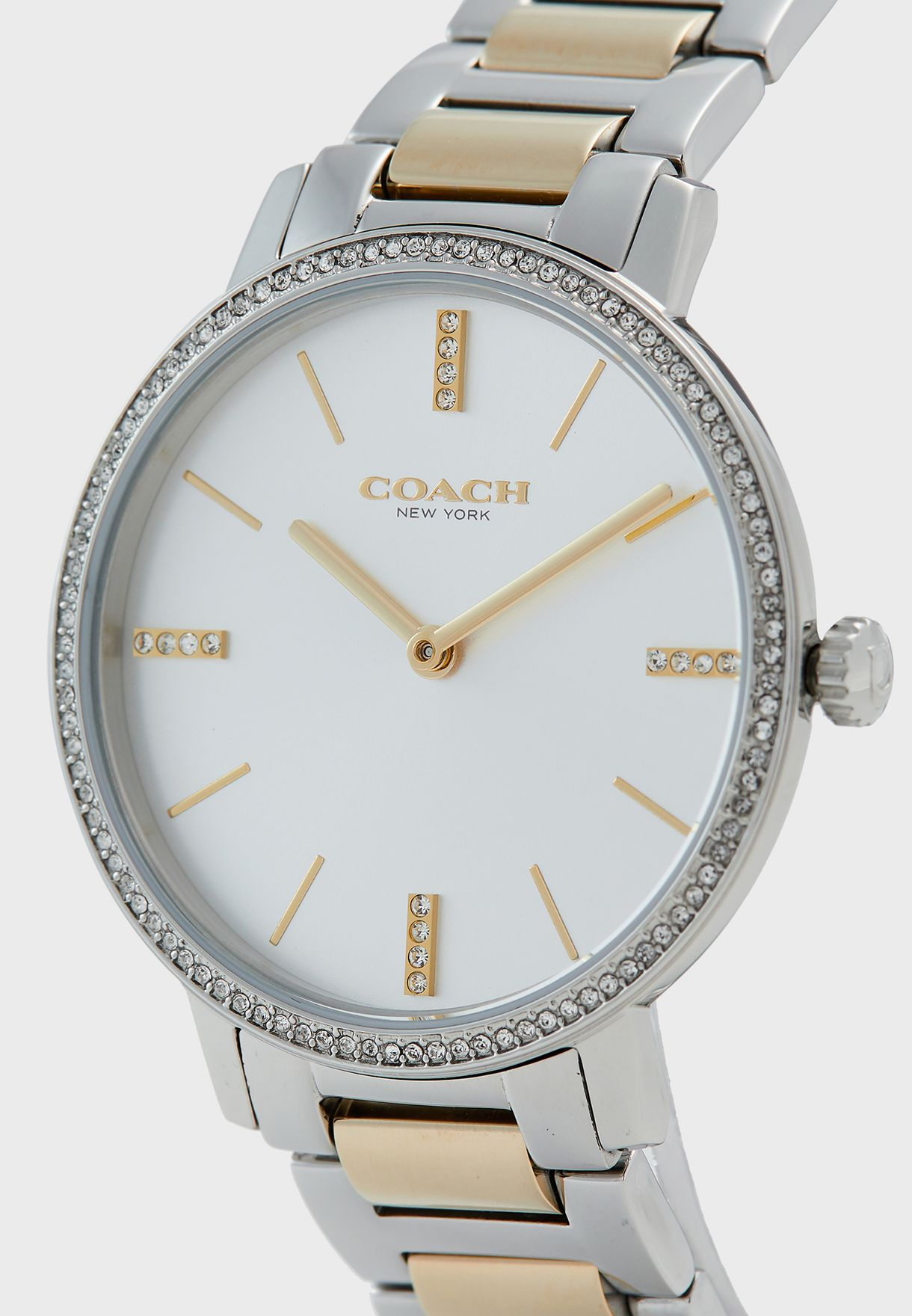 Audrey Two Tone Stainless Steel Strap Watch