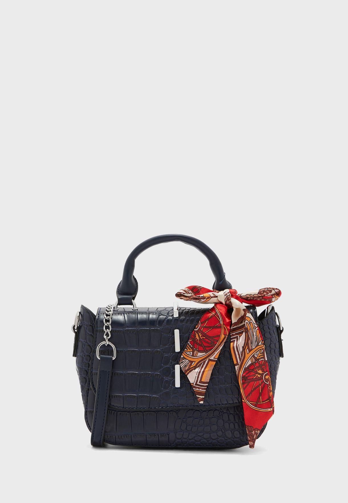 Scarf Tie Croc Handbag