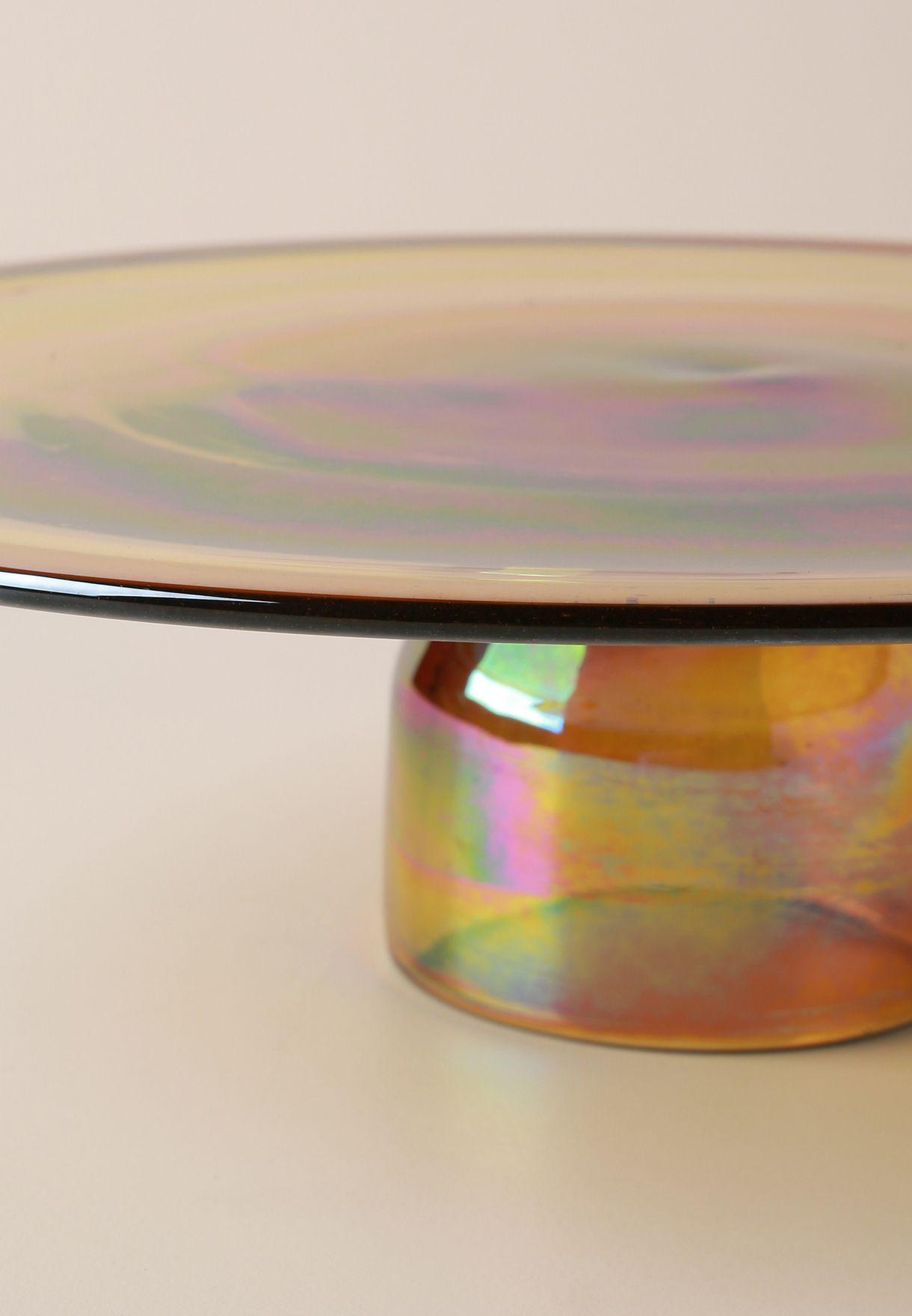 Glass Amber Cakestand