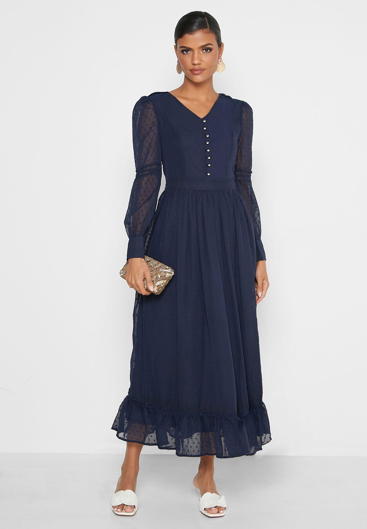 Textured Smock Dress