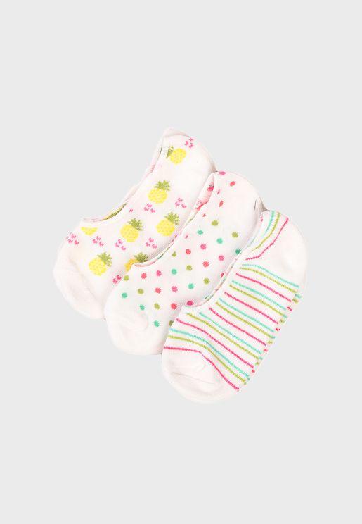 Kids Pineapple Dolly Socks