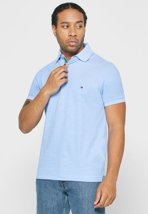 Textured Slim Fit Polo