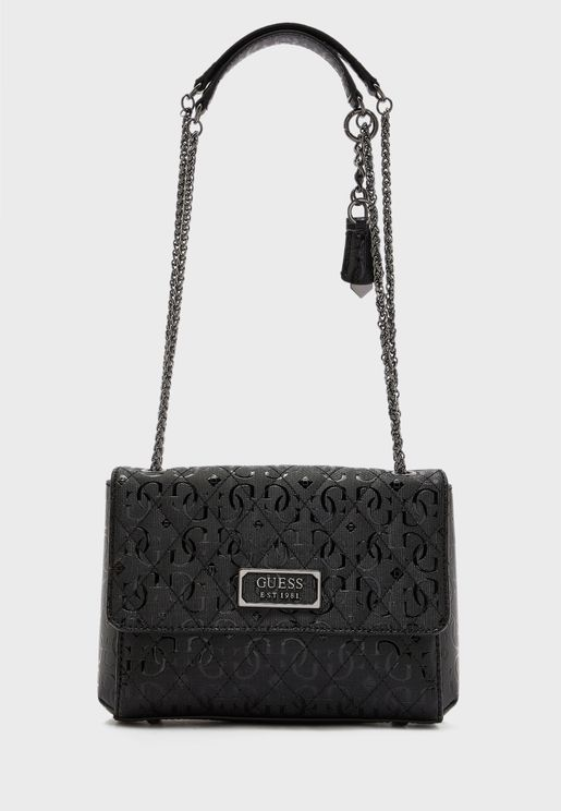 Lola Chain Detail Flap Over Crossbody