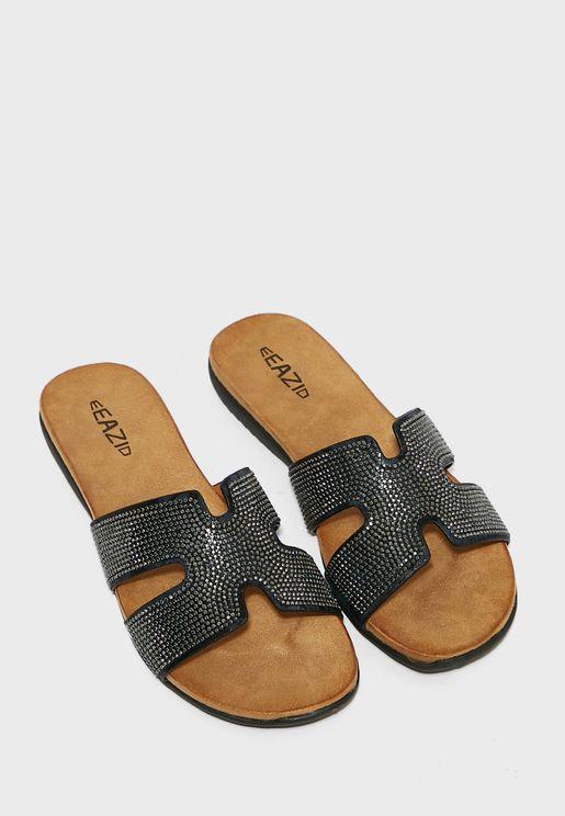 Dame Low Heel Sandals