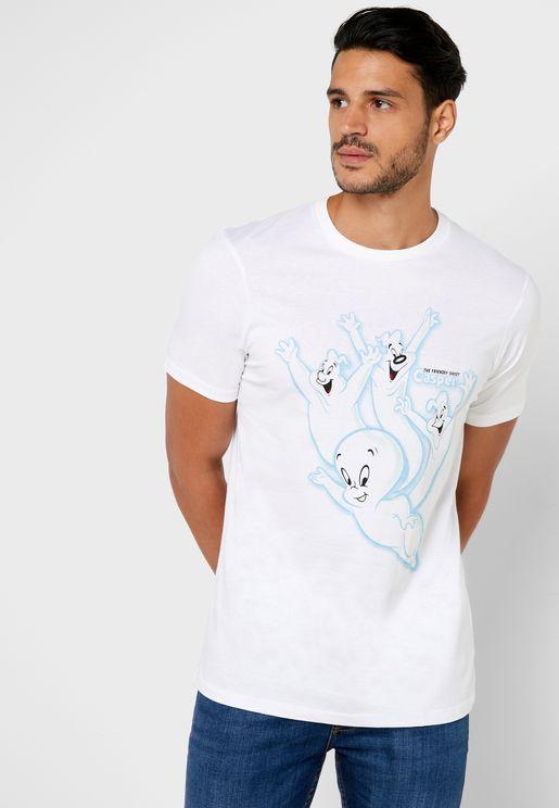 Casper Logo Crew Neck T-Shirt