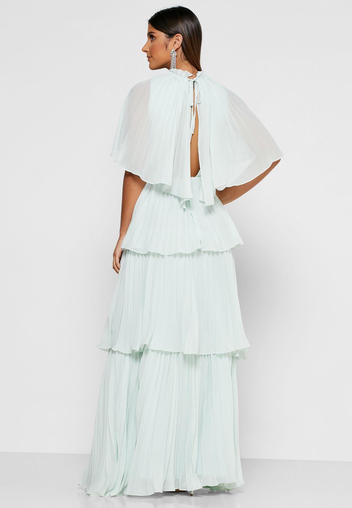 Ruffle Detail Lace Dress