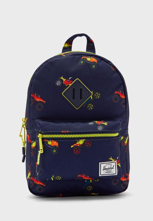 Kids Monster Truck Print Backpack