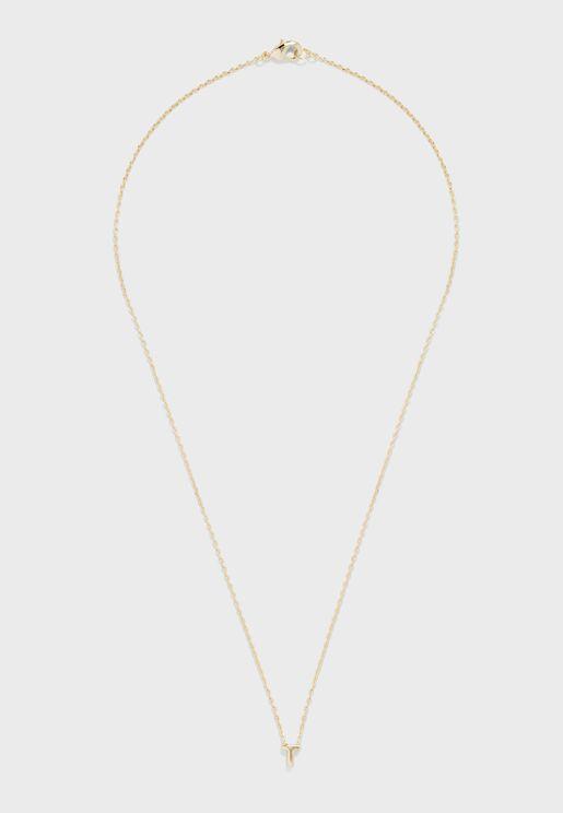 Initial T Mint Necklace