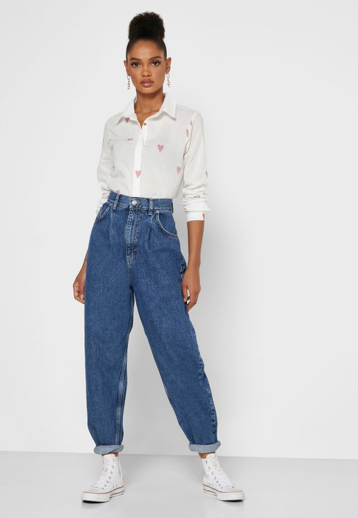 Balloon Tapered Jeans