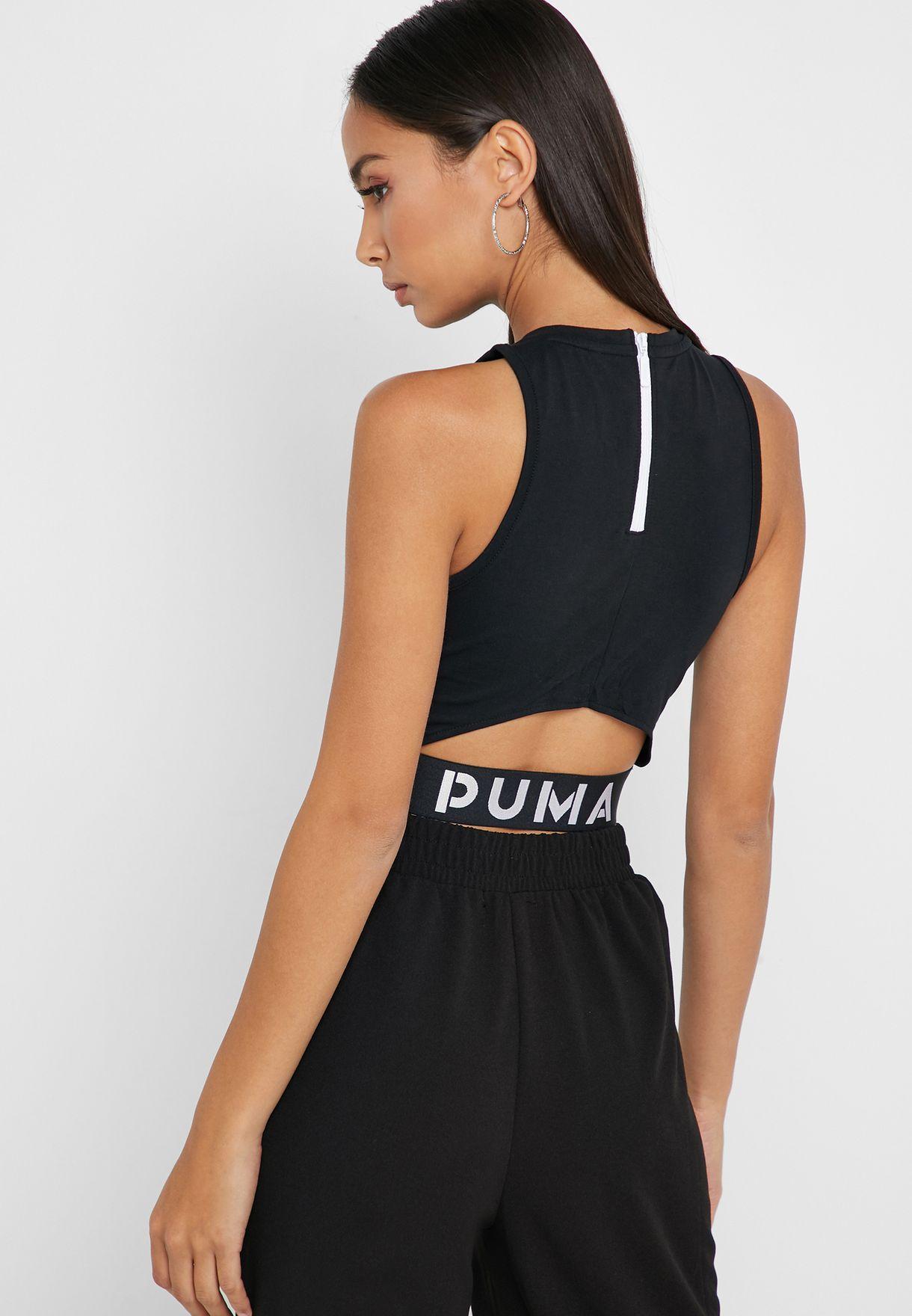 3d3d099ef92d2e Shop PUMA black XTG Cropped Top 57801551 for Women in UAE - 20000AT82WZP